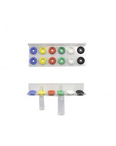 Varioflex-Ampullenschiene Kst. zweireihig für 12 Ampullen