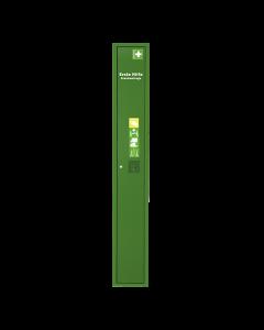 Stehschrank Erste-Hilfe-Trage leer grün
