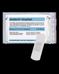 aluderm®-aluplast elastisch Strips 2,5 x 7,2 cm  50 Stück