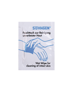 Feuchttuch zur Reinigung unverletzter Haut, einzeln