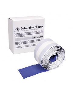 Pflasterverband detectable 5m x 6cm