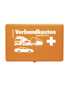 KFZ-Verbandkasten KU orange mit Füllung Standard DIN 13164