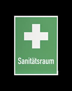 Rettungszeichen  Sanitätsraum+Kreuz