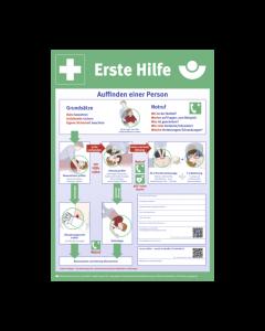 Anleitung Erste-Hilfe Plakatform Kunststoff